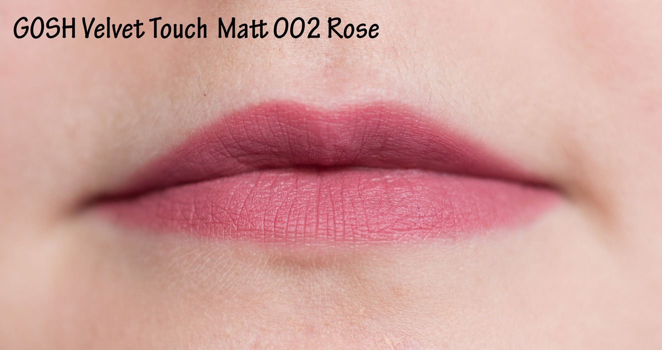 GOSH Velvet Touch Matt 002 rose